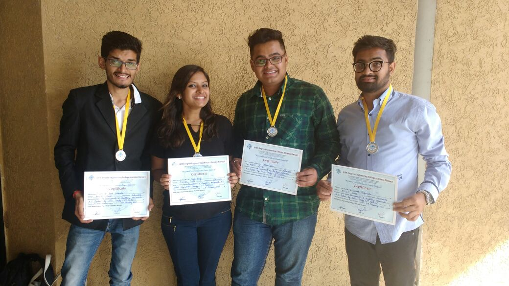 Ranked 2nd Position In The National Level Students Paper Contest At Gidc Engg. College