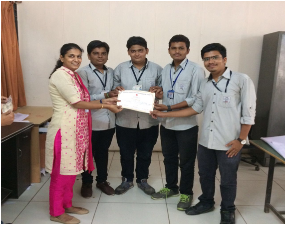 Won Second Prize in GTU Project Fair